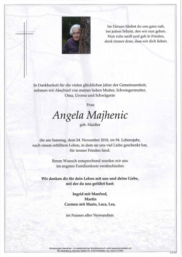 Angela Majhenic geb. Haidler