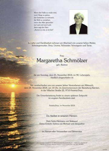 Margaretha Schmölzer