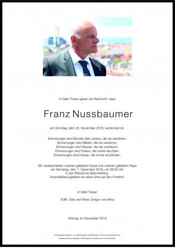 Franz Nussbaumer