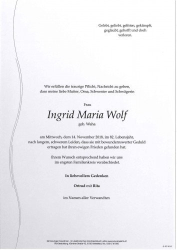 Ingrid Maria Wolf