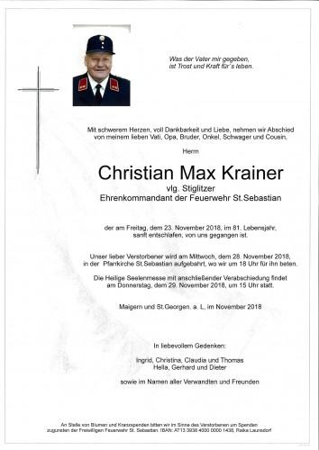 Christian Max Krainer