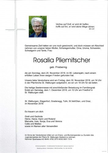 Rosalia Pliemitscher