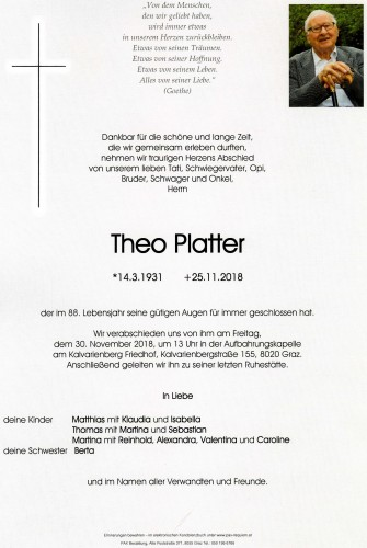Theo Platter Dr.