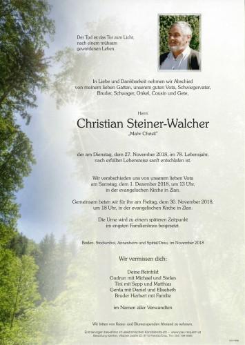 """Christian Steiner-Walcher """"Mahr Christl"""""""