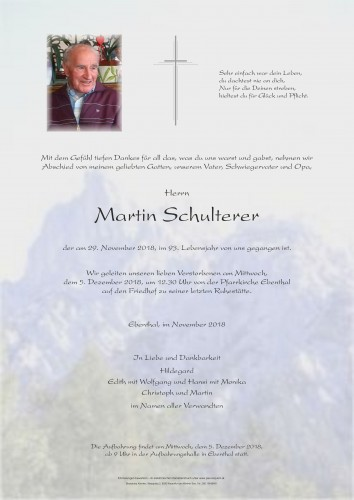 Martin Schulterer