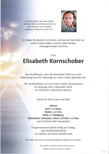 Elisabeth Kornschober