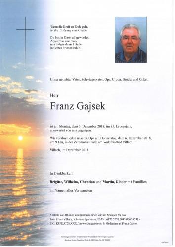 Franz Gajsek