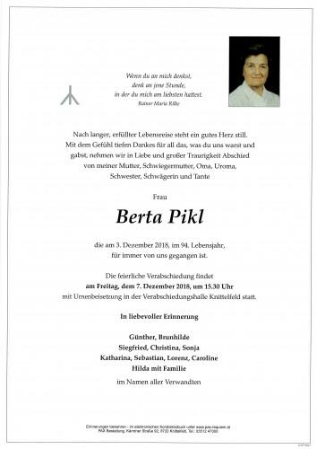 Berta Pikl