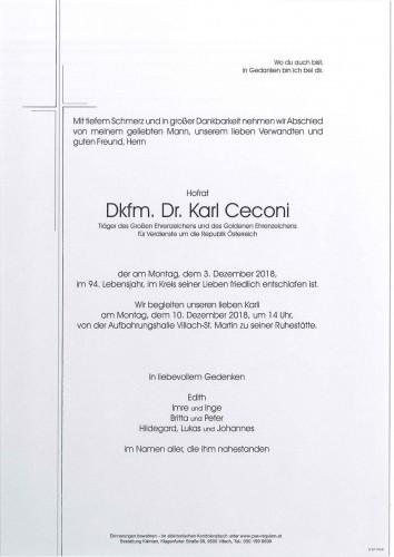 Dkfm. Dr. Karl Ceconi