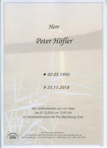 Peter Höfler