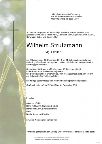 Wilhelm Strutzmann vlg. Skriller
