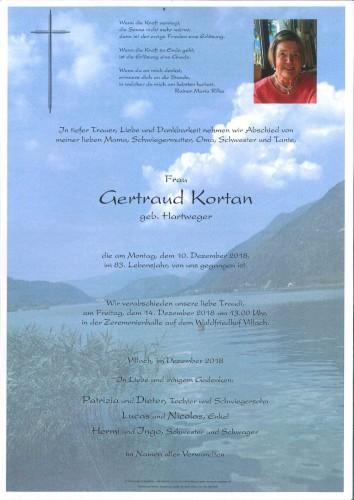 Gertraud Kortan, geb. Hartweger