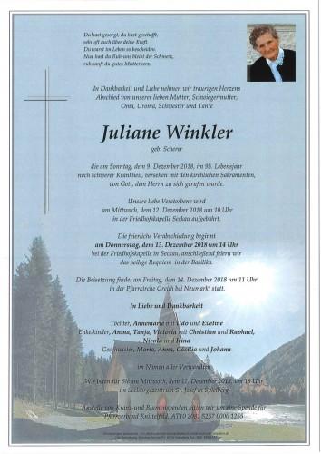 Juliane Winkler geb. Scherer