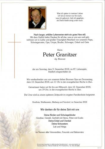 Peter Granitzer, vlg. Brunner