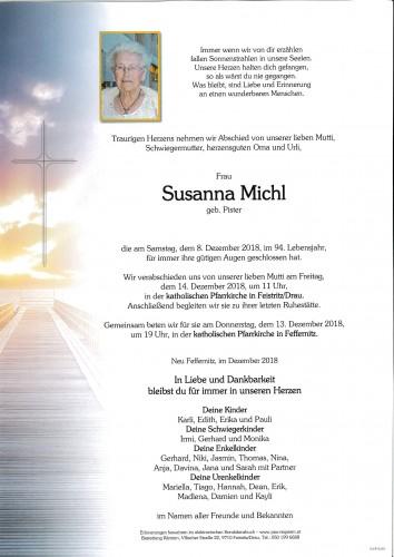 Susanna Michl, geb. Pister
