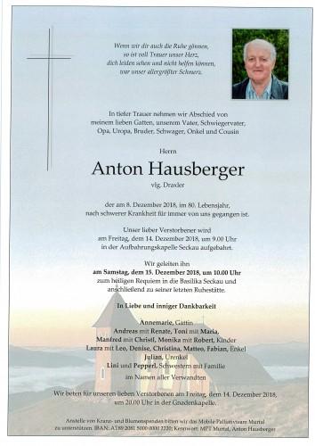 Anton Hausberger, vlg. Draxler