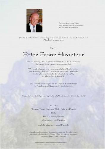 Peter Franz Hirantner