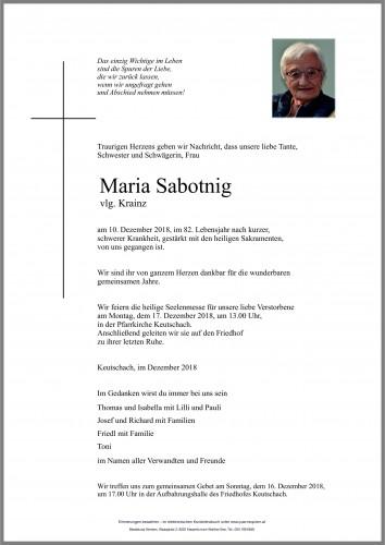 Maria Sabotnig