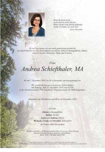 Andrea Schiefthaler, MA