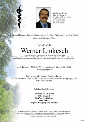 Univ.-Prof.Dr. Werner Linkesch
