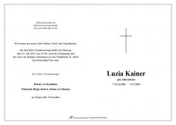 Luzia Kainer (geb. Ellersdorfer)