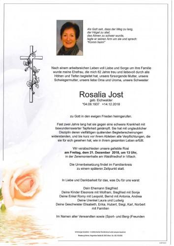 Rosalia Jost geb. Eichwalder