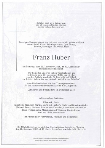Franz Huber
