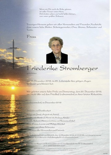 "Friederike Stromberger ""Frida"" """