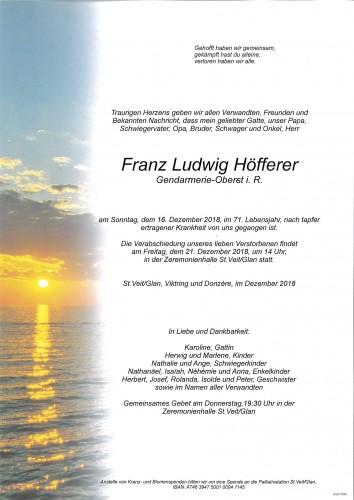 Franz Ludwig Höfferer