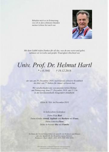 Univ. Prof. Dr. Helmut Hartl