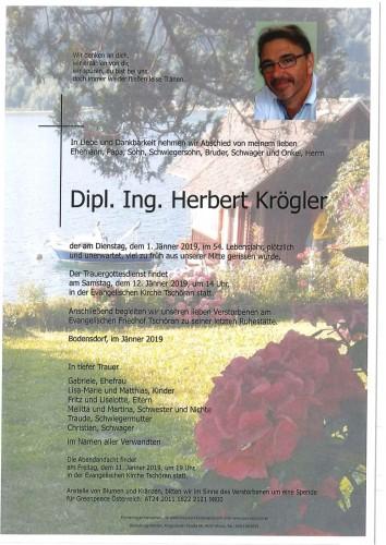 Dipl. Ing. Herbert Krögler