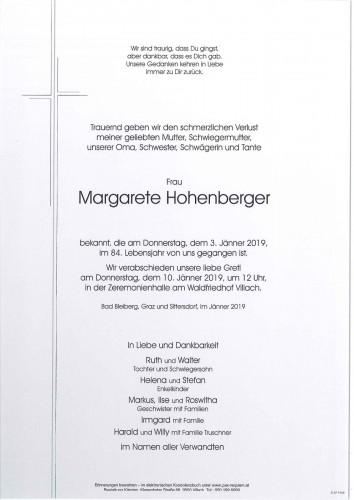 Margarete Hohenberger