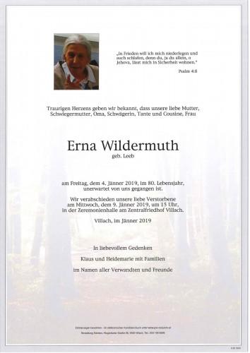 Erna Wildermuth geb. Leeb