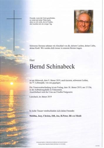 Bernd Schinabeck