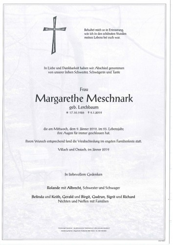 Margarethe Meschnark
