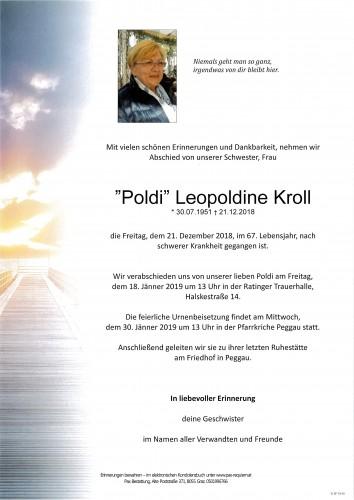 """""""Poldi"""" Leopoldine Kroll"""