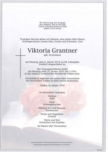 Viktoria Grantner geb. Strutzmann