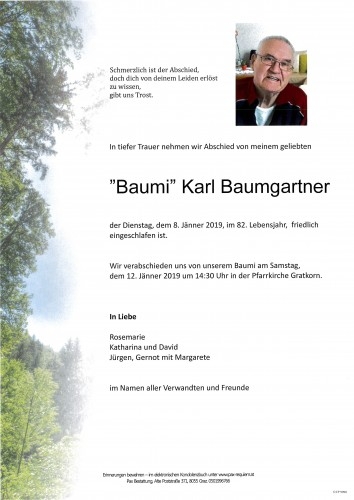 """Baumi"" Karl Baumgartner"