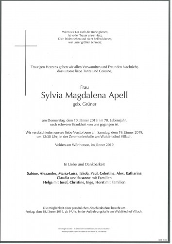Sylvia Magdalena Apell