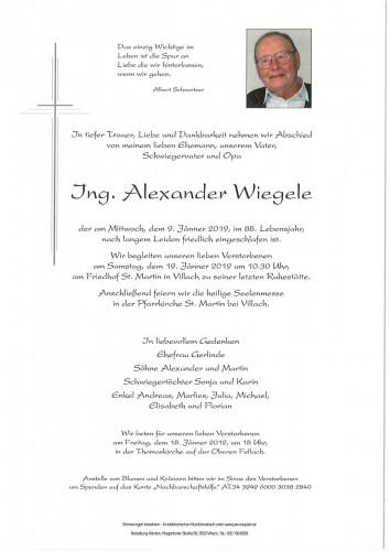 Ing. Alexander Wiegele