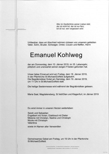 Emanuel Kohlweg