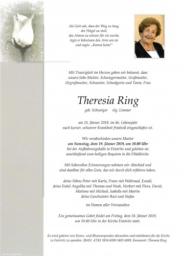 Theresia Ring, vlg. Limmer