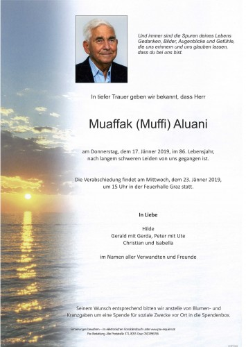 Muaffak (Muffi) Aluani