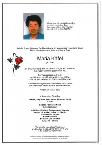 Maria Käfel geb. Horn
