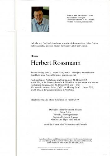 Herbert Rossmann