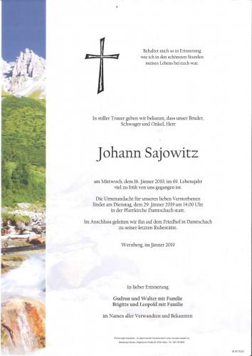 Johann Sajowitz