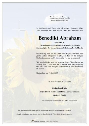 Benedikt Abraham