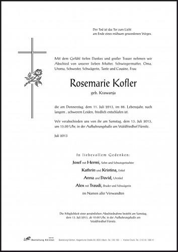 Rosemarie Kofler