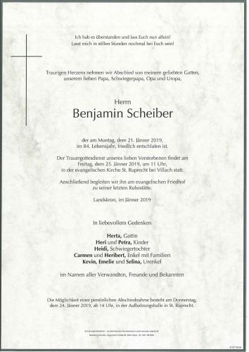 Benjamin Scheiber