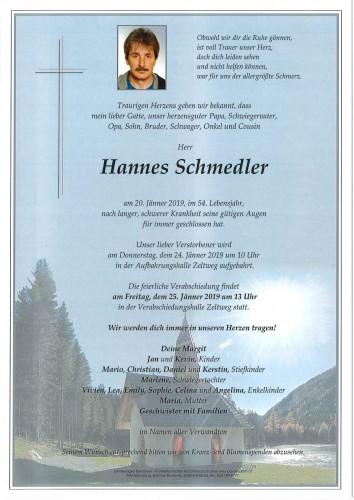 Hannes Schmedler